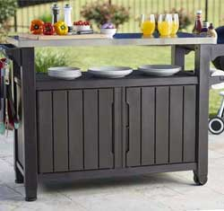Outdoor Kitchen Cart for Grilling and Backyard Parties