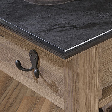 Faux Slate Tabletop of Sauder Mobile Kitchen Island