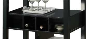 Kitchen Island Wine Storage Cubbies