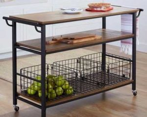 Baxton Studio Lancashire Industrial Kitchen Cart