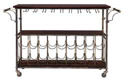Roland Bar Cart with Compartments for 18-22 Bottles of Wine