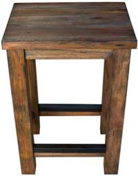 Rustic Farmhouse Stools to Match Mobile Kitchen Island