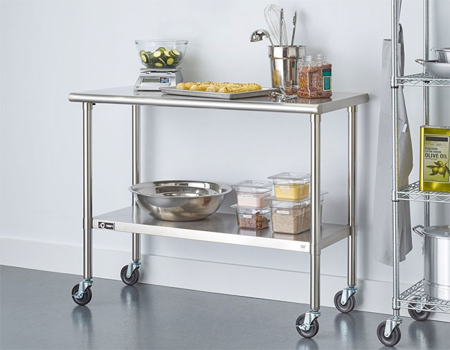 stainless steel kitchen island on wheels stainless steel kitchen island the pros amp cons 27553