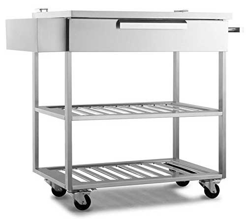 Stainless Steel Outdoor Kitchen Cart That Does Everything
